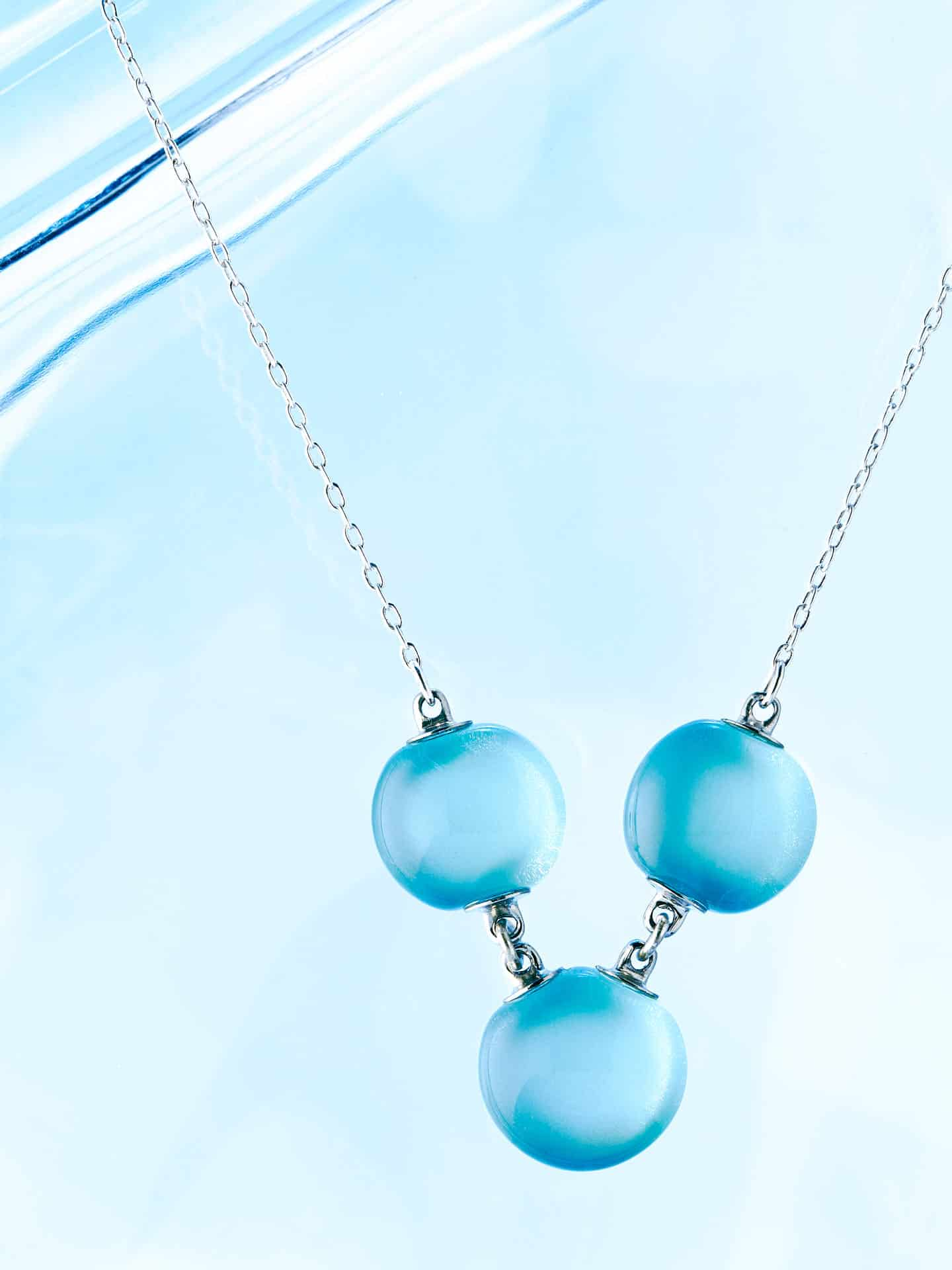 Blue Glass necklace by Perfecto Glass.