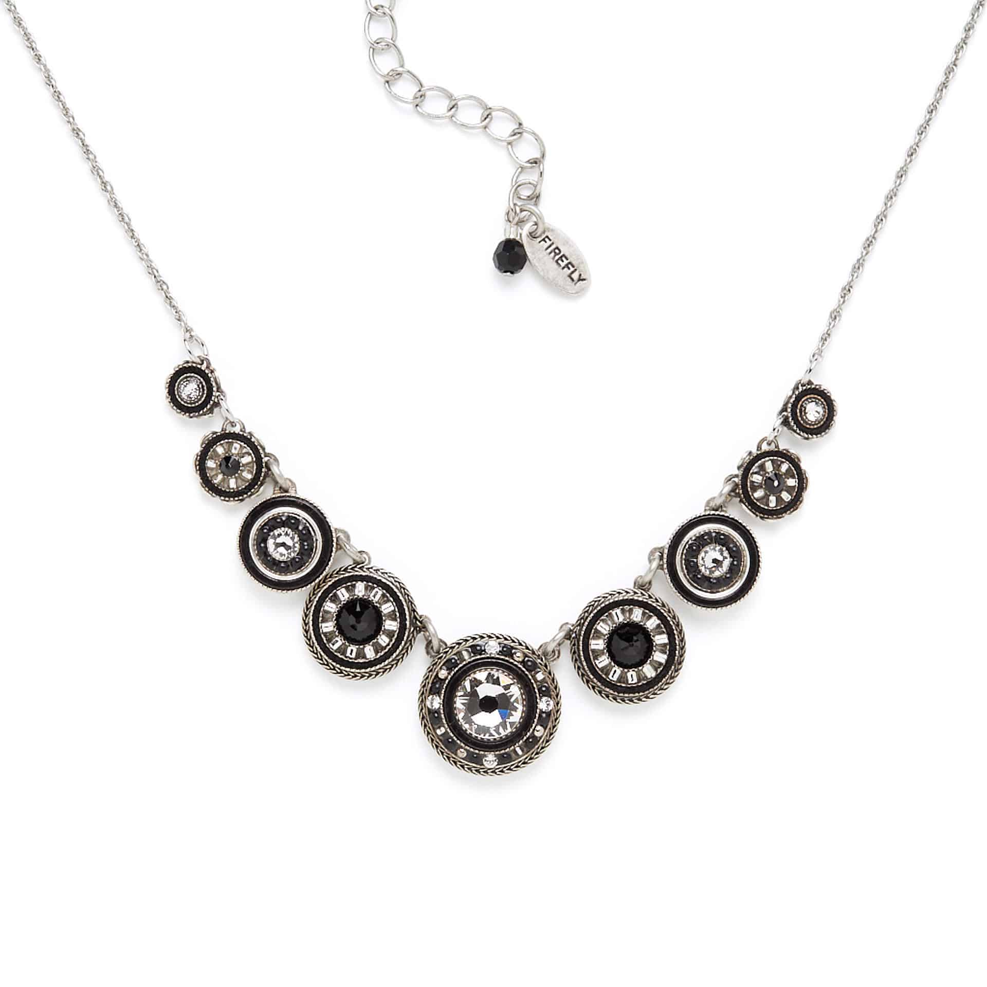 Black and white Firefly necklace